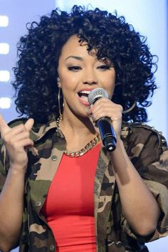 I love her afro. Leigh-anne