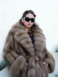 Siberian sable fur coat