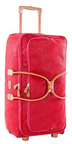 sturdy rolling red duffel bag