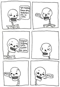 A Skeleton And A Vampire Got Together To Make Puns, And It�s Hilarious.