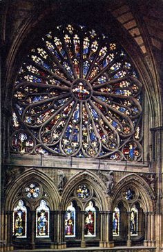 Rose window at Westminster Abbey