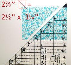 Quilt block math ~ Jelly Roll Trix