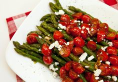 Asparagus With Balsamic Glazed Tomatoes