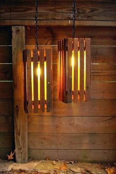 Recycled Pallets wood pallet light Old Wood Pallets Lamps in pallet home decor with Pallets Lamp - Nice lamps made with old pallets, no idea who has done these lights, if you know feel free to comment. Pallet Crafts, Diy Pallet Projects, Wood Projects, Craft Projects, Upcycling Projects, Old Pallets, Wooden Pallets, Pallet Wood, Outdoor Pallet