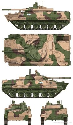 BMP-3E-IFV  The BMP-3 is a Soviet amphibious infantry fighting vehicle, successor to the BMP-1 and BMP-2. The abbreviation BMP stands for Boevaya Mashina Pehoty
