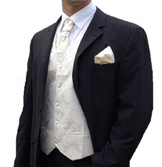 Paul Malone Wedding Vest Set Cream 5pcs Tuxedo Vest + Necktie + Ascot + Hanky + 2 Cufflinks XXXL Paul Malone http://www.amazon.com/dp/B002BZC22Q/ref=cm_sw_r_pi_dp_u7Veub1A05PZ2