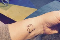 Owl wrist tatoo