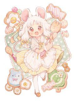 Loli Kawaii, Kawaii Chibi, Kawaii Art, Kawaii Anime Girl, Anime Art Girl, Cute Anime Character, Character Art, Arte Sketchbook, Cute Kawaii Drawings
