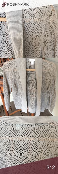 """Loft all cotton taupe sweater. M. Ex condition Loft all cotton """"light"""" taupe sweater. Med.  When you just need alittle something.  Excellent condition! 😘 Loft Sweaters Cardigans"""