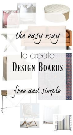How to Create a Design Board and Where to Start Designing a Room – Nesting With Grace - Zimmereinrichtung Mood Board Interior, Interior Design Boards, Interior Design Business, Free Interior Design, Interior Design For Beginners, Interior Design Portfolios, Interior Stylist, Small Room Design, Family Room Design