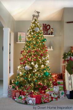 spiral color Christmas tree