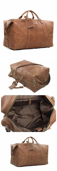Low Cost Insurance Plan For The Welfare Of Your Loved Ones Genuine Leather Duffle Bag, Leather Travel Bag,Weekend Bag