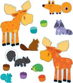 Moose & Friends Bulletin Board Set from Carson-Dellosa Woodland Animals Theme, Forest Animals, Preschool Classroom, Classroom Themes, Disney Classroom, Friends Bulletin Board, Bulletin Boards, Forest Theme Classroom, Dj Inkers