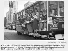 Girl Scout Cookie Cable Car, March 1960, San Francisco Chronicle