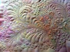 Look at this color and quilting!  Beautiful!
