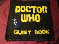 Doctor Who quiet book. Bantambb.tumblr.com