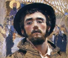 Francesco Paolo Michetti (1851-1929) – Autoritratto (1877) pastel et tempera, Museo Pignatelli, Napoli