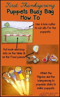 Learning about the First Thanksgiving Story with Printable Puppets