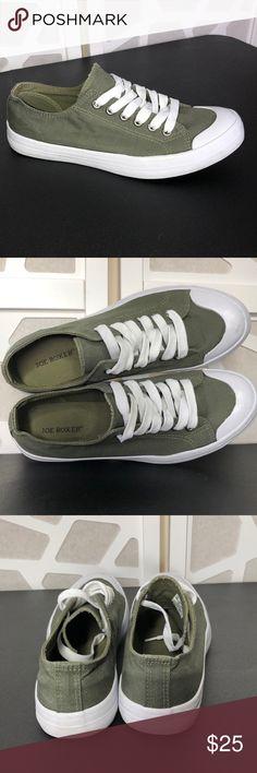 d8ffe7e495c4b8 Joe Boxer Canvas Sneaker Joe Boxer Canvas Sneakers White Rim