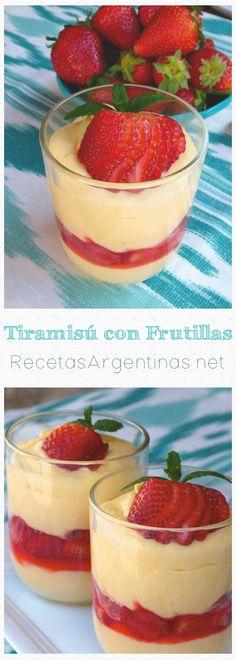 Un postre que conjuga la frescura de las frutillas con la cremosidad del queso mascarpone. Una alternativa al clásico tiramisú.