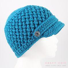 Ravelry: Criss Cross Newsboy Hat pattern by Ana Benson