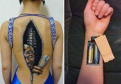 Fotos de Tatuagens: tattoo de Zíper nas costas
