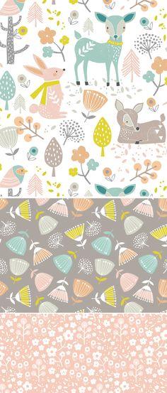 wendy kendall designs – freelance surface pattern designer » summer woodland