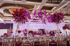 Suhaag Garden, Florida California wedding decorators, South Asian wedding decorators, Indian wedding decorators, reception decor, Marriott Heron Bay Coral Springs, white and gold, flowers, centerpieces, manzanita trees