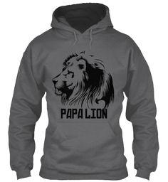 Papa Lion Dark Heather T-Shirt Front