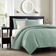 Our new Hudson Bay collection has the perfect solid color coverlets to use as a layering pieces or an alternative to your comforter for a softer beach bedroom look.