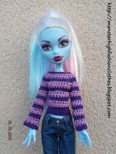 Ropa para Monster High: jersey J51 de My Monster High boutique por DaWanda.com