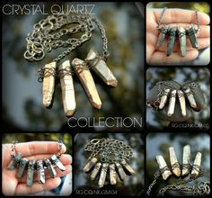 Raw Gem Look Book - Crystal Quartz Fan Collection - ShannonTJewelry.com - #rawgem #rawcrystal #crystalpoints #edgy #roughcrystal #cystalquartz #bohojewelry #bohonecklace #crystalquartzpoint #bohocrystal #bohochic #bohemianjewelry #hippiejewelry #hippienecklace #crystalpendant #festivalfashion #greycrystal #rawstone #gunmetal #rawmineral #shannontjewelry #wirewrapped #pewter #modernjewelry #silvercrystal #sexynecklace #metalliccrystal #healingcrystal  #statementnecklace #OOAK