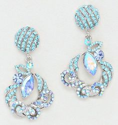 Elizabeth Earrings in Aspen Blue. Such a beautiful blue!!!