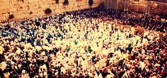 Filming the Priestly Blessing ceremony in the Western Wall, Sukkot 2013