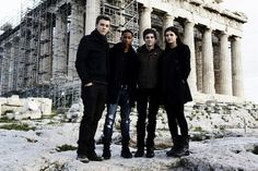 Percy Jackson cast. . . .  I love Jake Abel, and Logan Lerman as Luke, and Percy!  Not to mention both of them are incredibly good-looking! <3