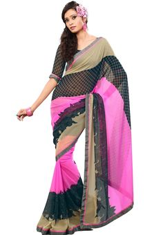 00ebee88f17 Digital  Chiffon Printed  Saree This saree drapes and sits beautifully on  your body lending