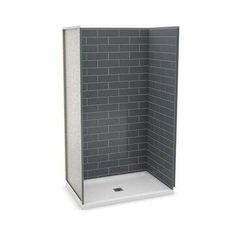 32 inch corner shower stall kits. 32 in  x 48 83 5 Alcove Shower Kit with Base Utile Inch Corner Stall Metro Ash Grey