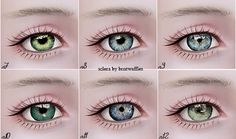 My Sims 3 Blog: Contacts n7-n12 with Updated Sclera by Eruwen