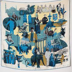 Pierre Loti, Occasion, Bandanas, Shawls, Scarves, Wayfarer, Exit Room, Blue, Bandana