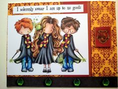 Harry Potter card, I solemnly swear I am up to no good! Tiddly Inks Wizards and Wizardette.