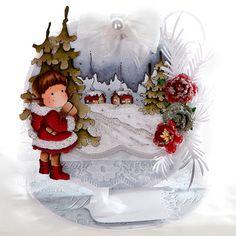 Gina's Cards: Magnolia Tilda in Christmas Coat Easel Card