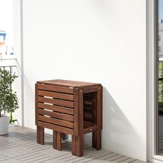 Products IKEA - ÄPPLARÖ Gateleg table, outdoor brown stained How To Achieve a High Home Improvement Outdoor Folding Table, Deck Table, Ikea Outdoor Table, Plein Air Ikea, Ikea Exterior, Teak, Wood Supply, Ikea Family, Table Sizes