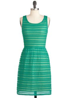 See What I Green? Dress - Mid-length, Green, Party, Sheath / Shift, Sleeveless, Solid, Backless
