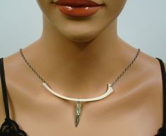 Necklace Coyote Animal Bone Jewelry with Miniature by OutofDoors, $22.00