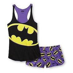 DC Comics Batman Women's Racerback Pajama Top Shorts