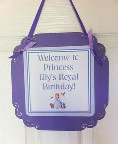 Princess sign to hang on the front of the door