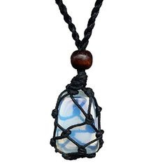 Natural Opal Quartz Pendant DIY Adjustment Long Chain Opal Quartz Stone Necklace Healing Chakra Jewelry by ZSE Jewelry -- Awesome products selected by Anna Churchill