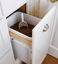 Since I'll always have a dog, this built in is perfect. Would also work for kitty litter.