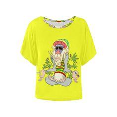 Hippie Ganja Guru Neon Yellow Women