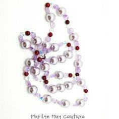 gorgeous purple lariat necklace